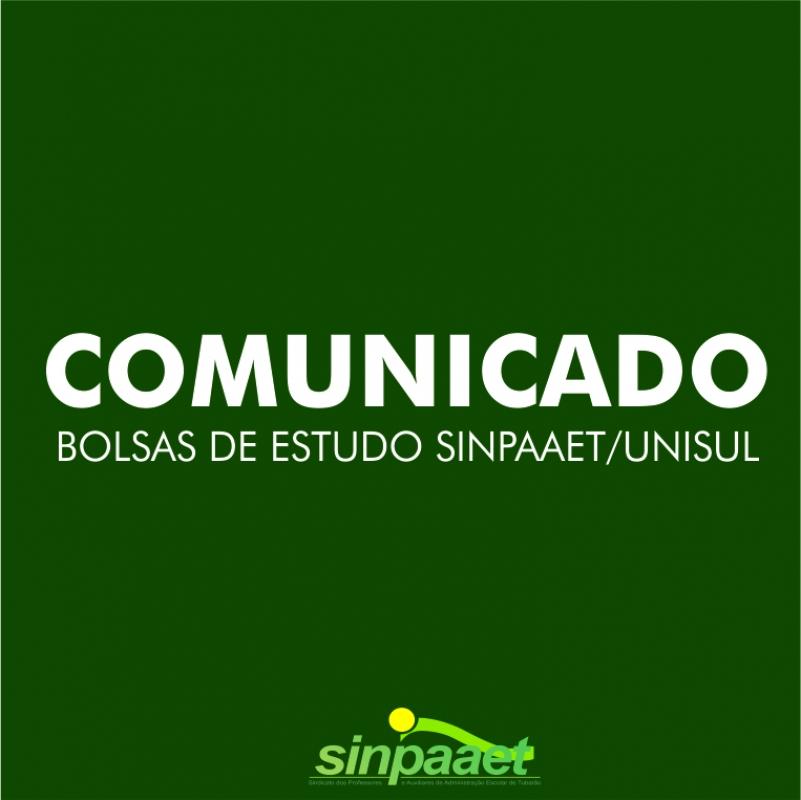 comunicado-concessao-de-bolsas-sinpaaet-unisul-2018